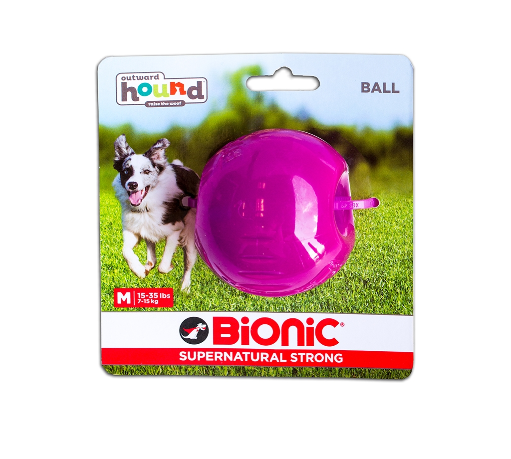 Outward Hound Bionic Opaque Ball,Large Purple - Ofypets