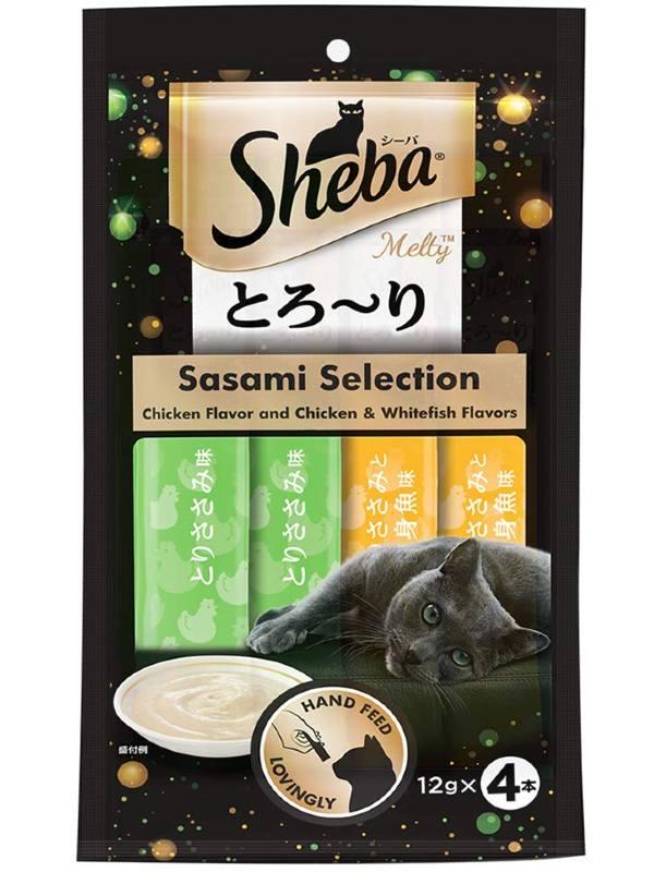 Sheba Melty Creamy Treats for Cats Sasami Selection - Chicken & Whitefish Flavor