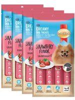 SmartHeart Creamy Dog Treats Strawberry Flavor