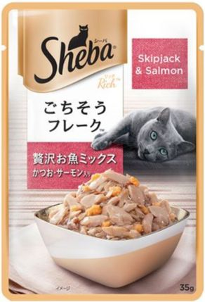 Sheba Wet Food Pouches Skipjack and Salmon