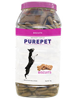 Purepet Biscuits Dog Treats Real Mutton Flavour Jar