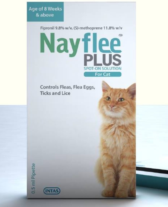 Intas Nayflee Plus Spot-ON Solution for Cats