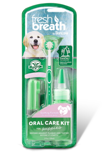 Tropiclean Fresh Breath Oral Care Kit for Puppies - Ofypets