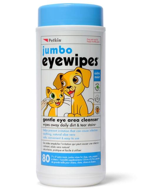 Petkin Jumbo Eyewipes,80 wipes - Ofypets