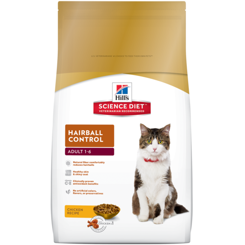 Hills Science Diet Hairball Control Adult Cat Food - Ofypets