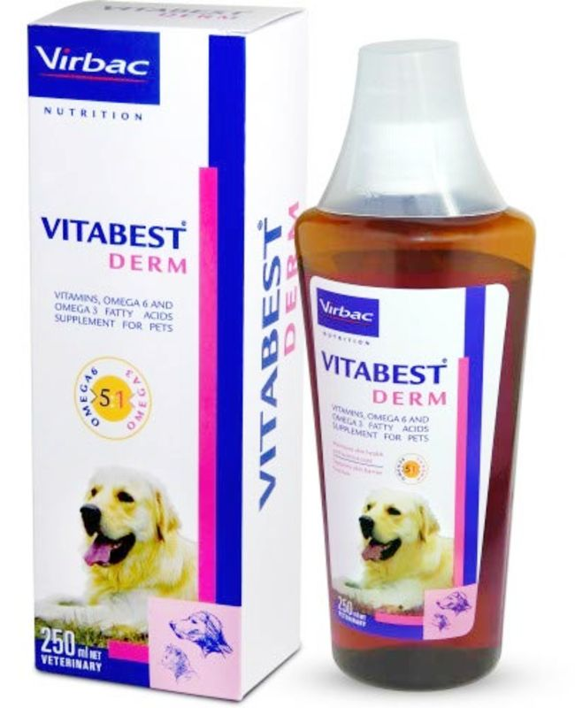 Virbac Vitabest Derm Omega Supplement for Cats and Dogs
