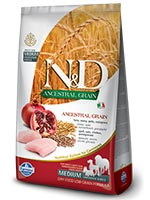 Farmina N&D Low Ancestral Grain Chicken And Pomegranate Medium and Maxi Adult Dog Food