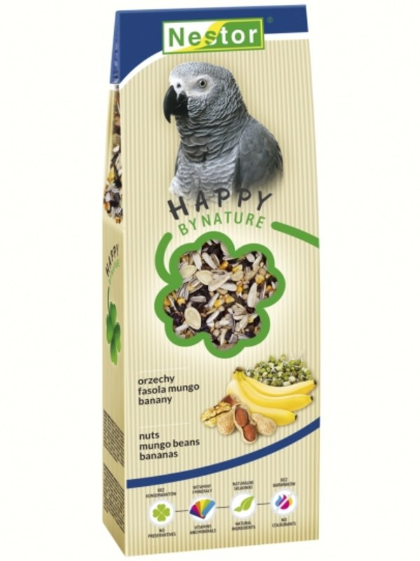 Nestor Premium Food For Big Parrots With Nuts, Mungo Beans And Bananas