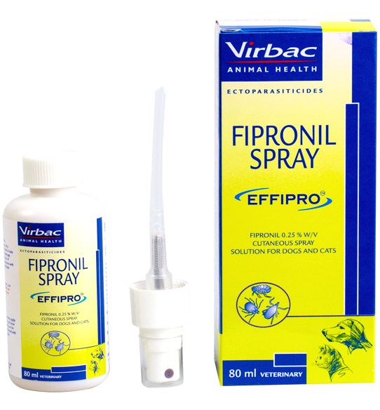 Virbac Effipro Fipronil 0.25% w/v Anti-Tick Spray for Dogs and Cats