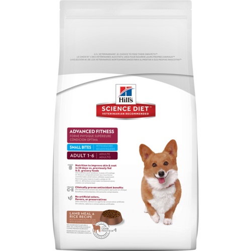Hill's Science Diet Advanced Fitness Small Bites Lamb Meal & Rice Adult Dog Food - Ofypets