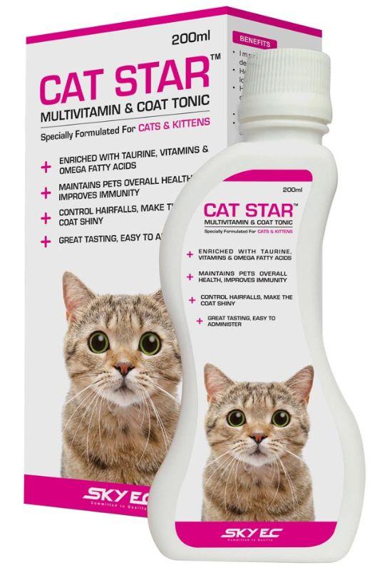 SkyEc Cat Star Multivitamin and Coat Tonic