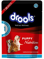 Drools Real Chicken and Chicken Liver Keema Puppy Wet Food