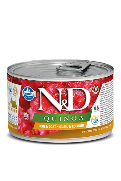 Farmina Quinoa Skin&Coat Quail&Coconut Mini Adult Wet Dog Food - Ofypets