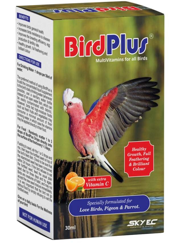 SkyEc BIRD PLUS MultiVitamin Drops for all Birds