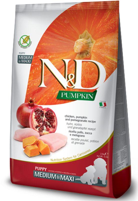 Farmina N&D Pumpkin Grain Free Chicken And Pomegranate Medium and Maxi Puppy Dog Food