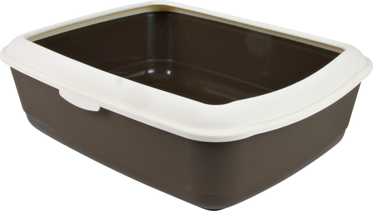 Trixie Classic Cat Litter Tray with Rim Brown - Ofypets