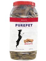 Purepet Biscuits Dog Treats Real Chicken Flavour Jar
