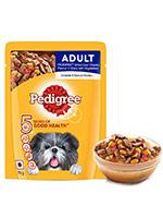 Pedigree Grilled Liver Chunks with Vegetables Adult Dog Gravy