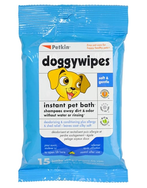 Petkin Doggy Wipes,15 Wipes