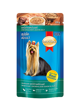 Smart Heart Chicken & Liver Adult Gravy in Pouch - Ofypets