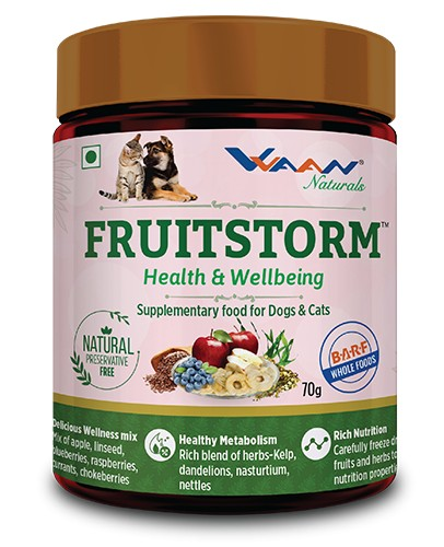 Vvaan Fruitstorm Health and Well Being Supplementary Food for Dogs and Cats