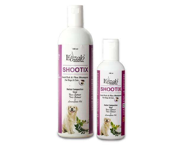 Lozalo Shootix Anti Tick & Flea Shampoo for Pets