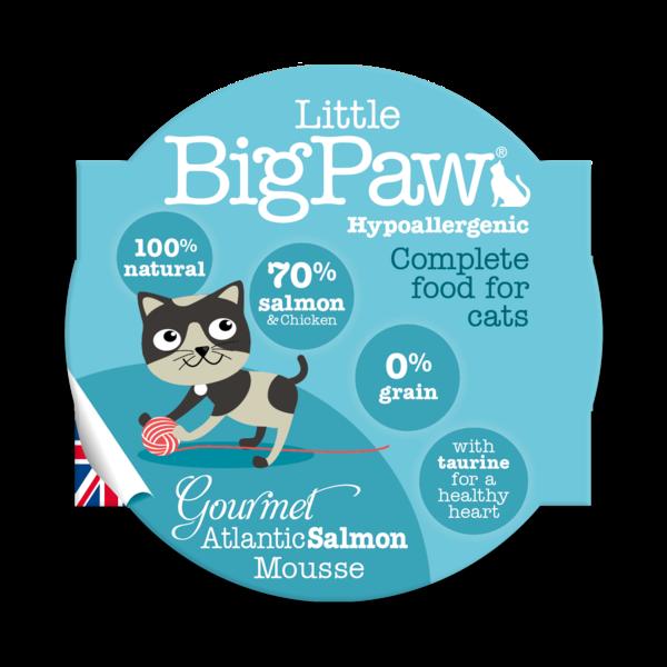 Little BigPaw Gourmet Atlantic Salmon Mousse Cat Gravy in Cups - Ofypets