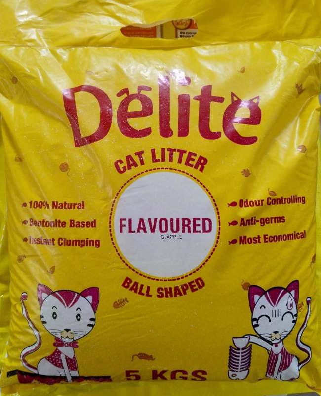 Delite Scented Cat Litter (Green Apple or Real Rose or Jasmine or Vanilla or Lavender or Mix Fruits)