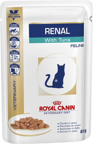 Royal Canin Renal with Tuna Wet Cat Food Pouch - Ofypets