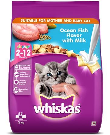 Whiskas Junior Ocean Fish Flavour with Milk Cat Food