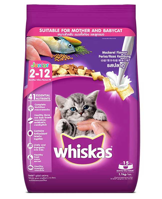 Whiskas Junior Mackerel Flavour Cat Food