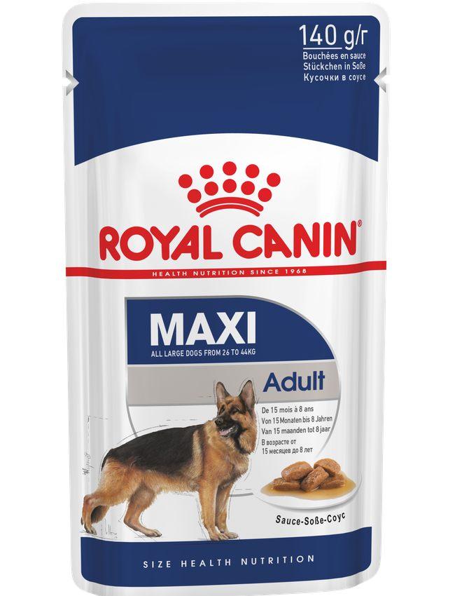 Royal Canin Maxi Adult Chunks in Gravy Wet Dog Food
