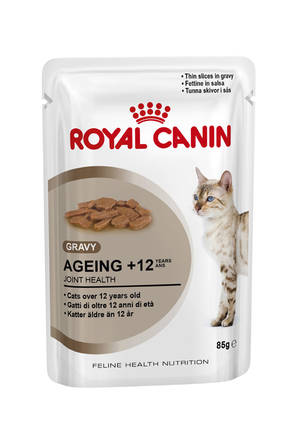 Royal Canin Ageing +12 Cat Food Pouch - Ofypets