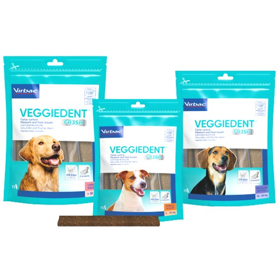 Virbac VEGGIEDENT FR3SH Dental Chews for Dogs