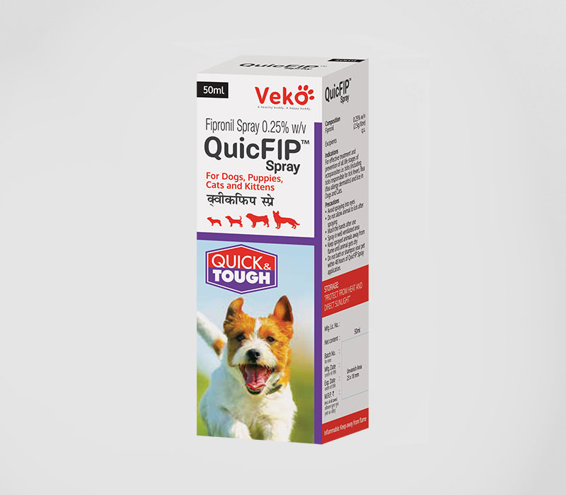 Veko QuicFip Spray for Dogs and Cats