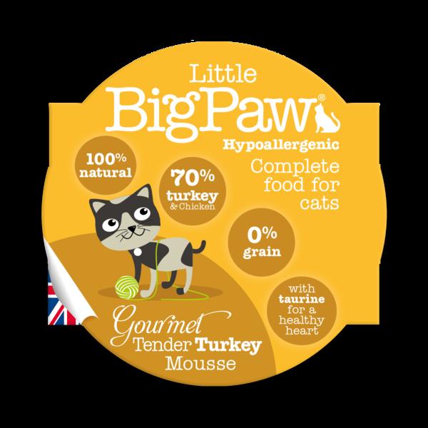 Little BigPaw Gourmet Tender Turkey Mousse Cat Gravy in Cups - ofypets