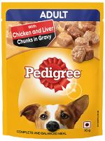 Pedigree Gravy Adult Chicken And Liver Chunks Dog Wet Food
