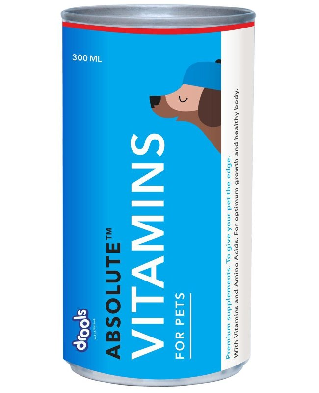 Drools Absolute Vitamins Syrup Dog Supplement