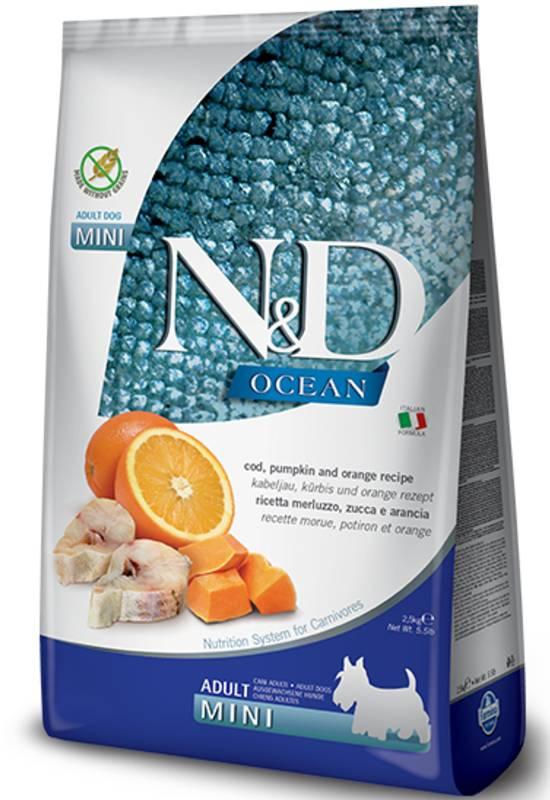 Farmina N&D Ocean Grain Free Cod, Pumpkin and Orange Mini Adult Dog Food
