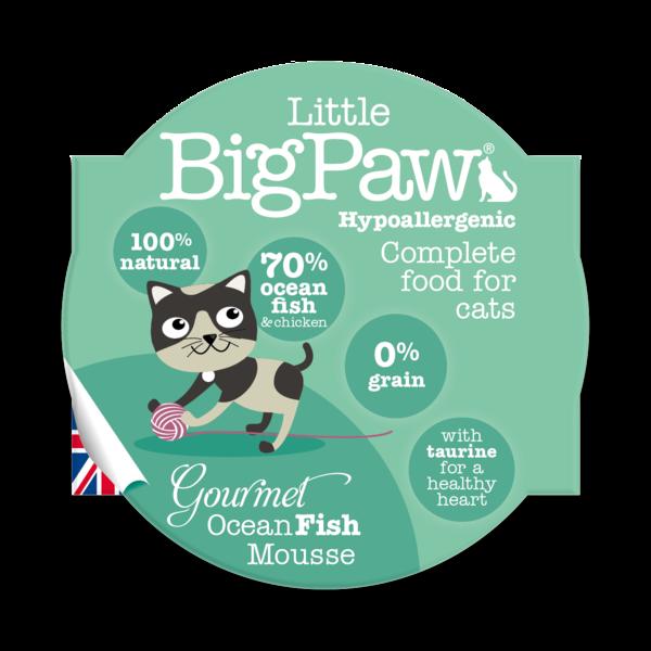Little BigPaw Gourmet Ocean Fish Mousse Cat Gravy In Cups - ofypets