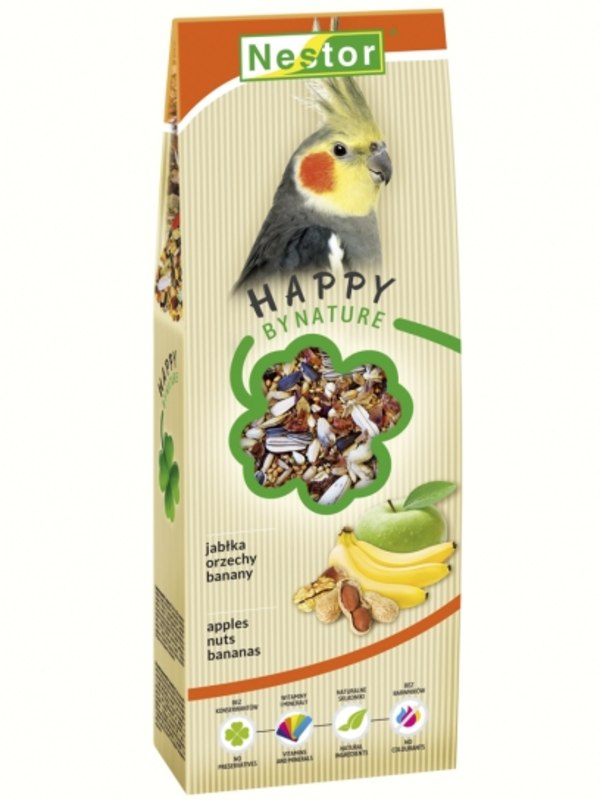 Nestor Premium Food For Large Parakeets With Apples, Nuts And Bananas
