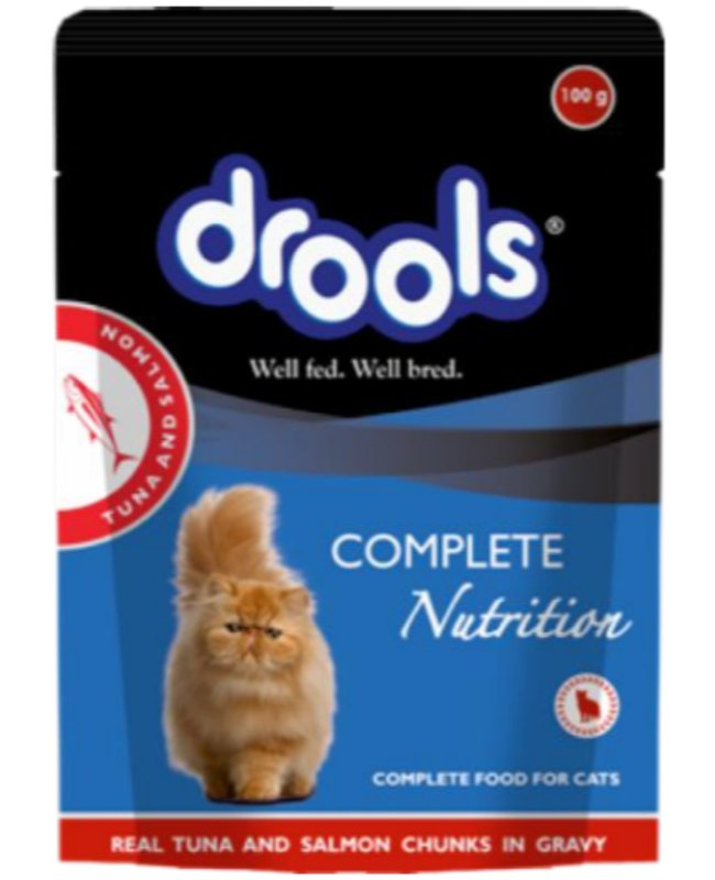 Drools Real Tuna and Salmon Chunks in Gravy Cat Wet Food