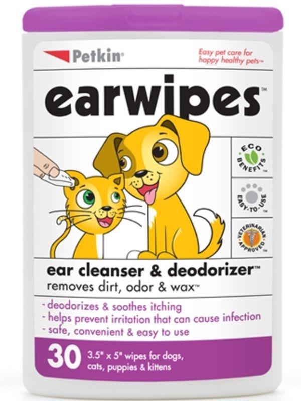 Petkin Jumbo Earwipes,80 wipes - Ofypets