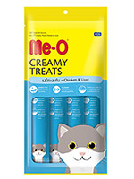 MeO Creamy Treats For Cat and Kitten Chicken & Liver Flavor