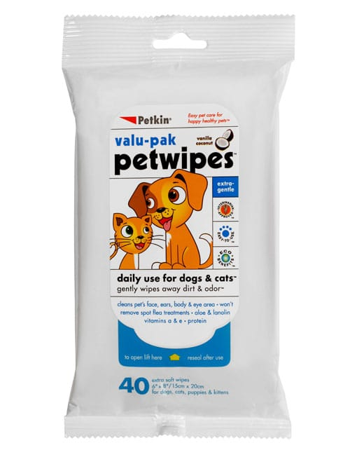 Petkin Petwipes Value-Pack,40 Wipes - Ofypets