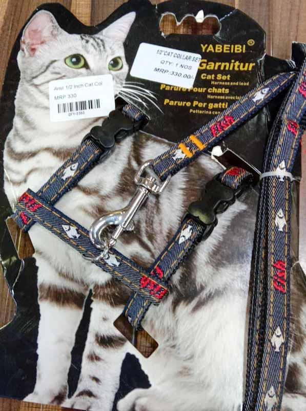 Premium Cat Collar with Leash Harness Type