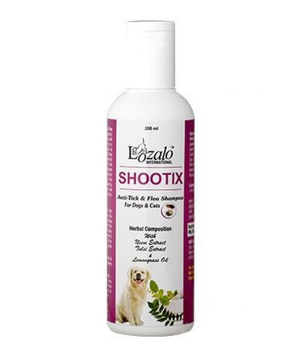 Lozala Shootix Anti Tick & Flea Shampoo for Pets 200ml - Ofypets