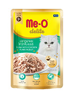 MeO Delite Wet Food Pouch, Tuna with Chicken Flake in Jelly