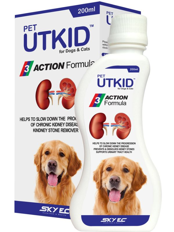 SkyEc Pet UTKID Urinary and Renal Supplement for Dogs and Cats