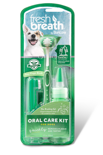 Tropiclean Fresh Breath Oral Care Kit for Dogs - Ofypets